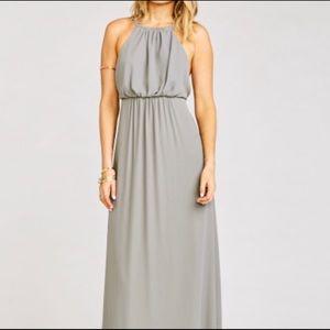 Show Me Your MuMu Amanda Dress Soft Charcoal Crisp